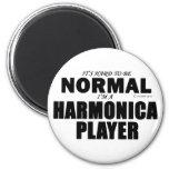 Normal Harmonica Player Refrigerator Magnet