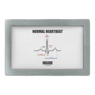 Normal Heartbeat Inside ECG EKG Electrocardiogram Belt Buckle