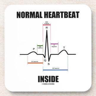 Normal Heartbeat Inside ECG EKG Electrocardiogram Beverage Coaster