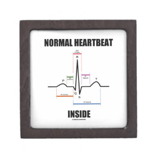 Normal Heartbeat Inside ECG EKG Electrocardiogram Gift Box