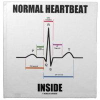 Normal Heartbeat Inside ECG EKG Electrocardiogram Napkin