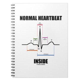 Normal Heartbeat Inside ECG EKG Electrocardiogram Notebook