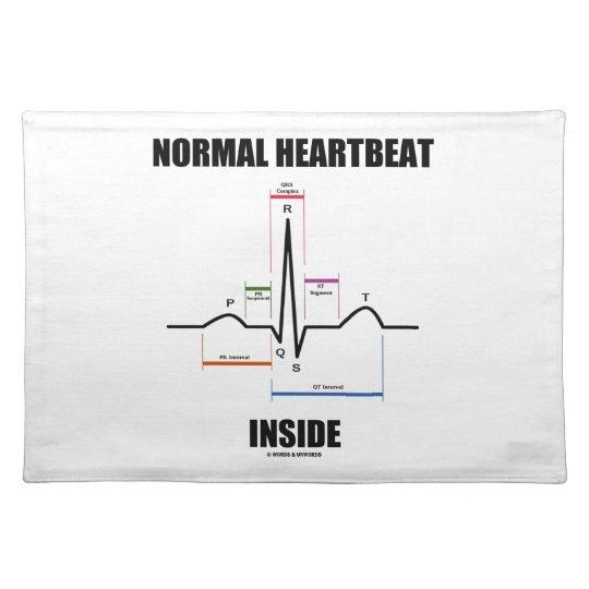 Normal Heartbeat Inside ECG EKG Electrocardiogram Placemat