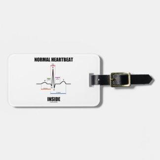 Normal Heartbeat Inside ECG EKG Electrocardiogram Tags For Bags