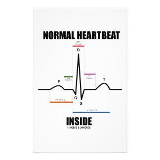 Normal Heartbeat Inside ECG EKG Stationery Paper