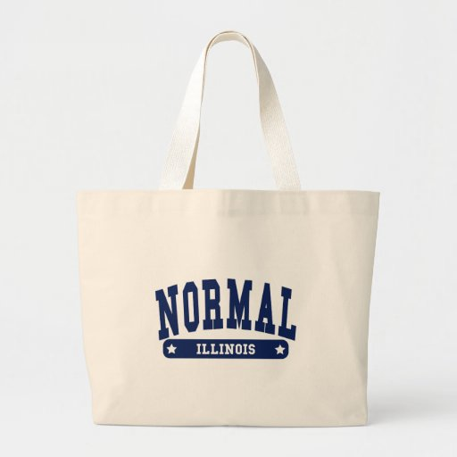 Normal Illinois College Style tee shirts Tote Bags