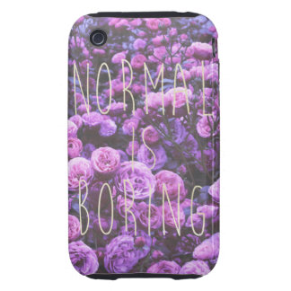 NORMAL IS BORING iPhone 3 TOUGH CASE