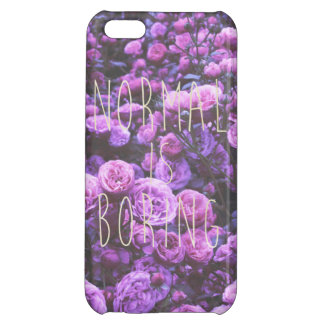 NORMAL IS BORING iPhone 5C COVER