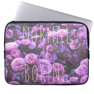 NORMAL IS BORING LAPTOP SLEEVES
