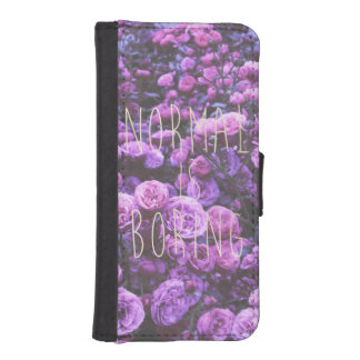 NORMAL IS BORING WALLET PHONE CASE FOR iPhone SE/5/5s