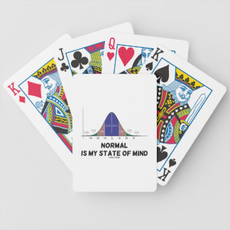 Normal Is My State Of Mind Bell Curve Geek Humor Bicycle Playing Cards
