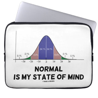 Normal Is My State Of Mind Bell Curve Geek Humor Laptop Computer Sleeves