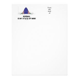 Normal Is My State Of Mind Bell Curve Geek Humor Letterhead