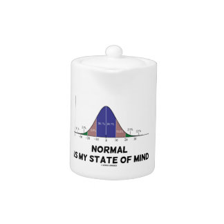 Normal Is My State Of Mind Bell Curve Geek Humor Teapot