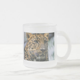 normal_leopard3 10 oz frosted glass coffee mug