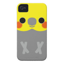 Normal Male Cockatiel iPhone 4 Cases