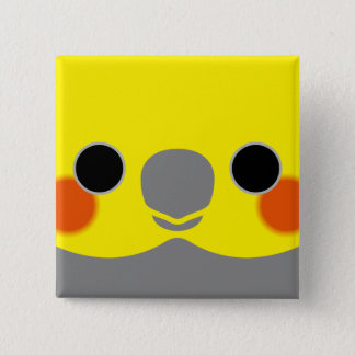 Normal Male Cockatiel Pinback Button