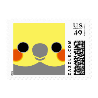 Normal Male Cockatiel Postage Stamps
