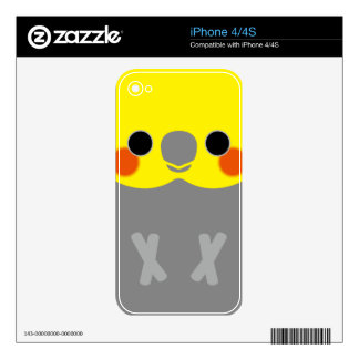Normal Male Cockatiel Skin For iPhone 4