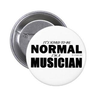Normal Musician Pinback Button