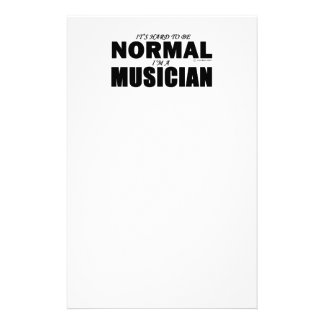 Normal Musician Personalized Stationery