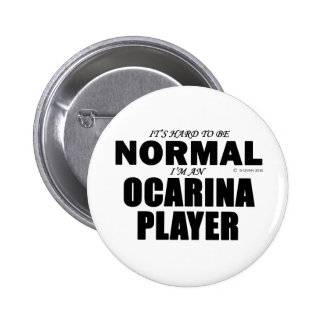 Normal Ocarina Player Pinback Button