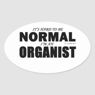 Normal Organist Oval Sticker
