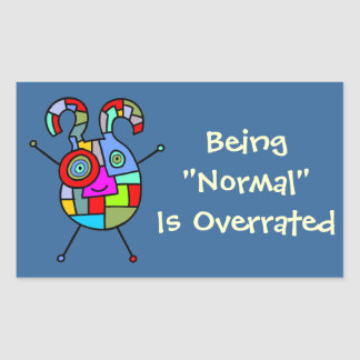 Normal Overrated (customizable) Rectangular Sticker