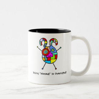 Normal Overrated (customizable) Two-Tone Coffee Mug