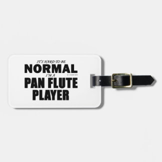 Normal Pan Flute Player Tags For Luggage