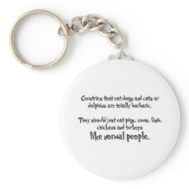 """""""Normal People"""" Keychain"""