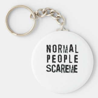 Normal People Scare Me Keychain