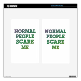 Normal People Scare Me Kindle Fire Decals