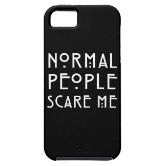 Normal People Scare Me - White iPhone SE/5/5s Case