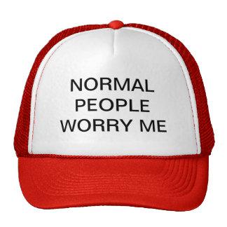 NORMAL PEOPLE WORRY ME TRUCKER HAT