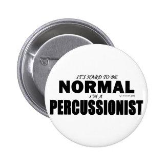 Normal Percussionist Pinback Button