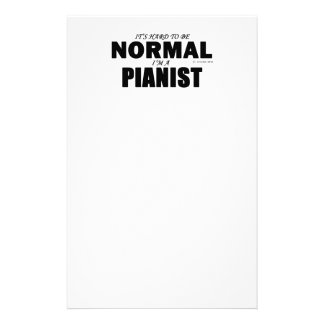 Normal Pianist Stationery Design