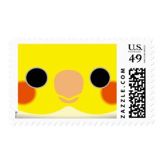 Normal Pied Cockatiel Stamp