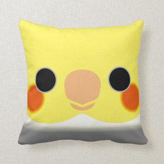 Normal Pied Cockatiel Throw Pillow