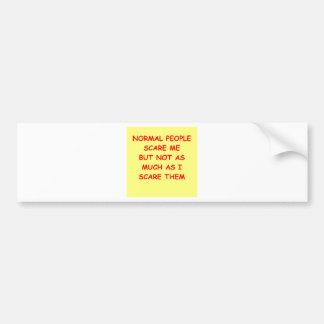 NORMAL.png Bumper Sticker