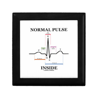 Normal Pulse Inside (ECG/EKG Electrocardiogram) Jewelry Box