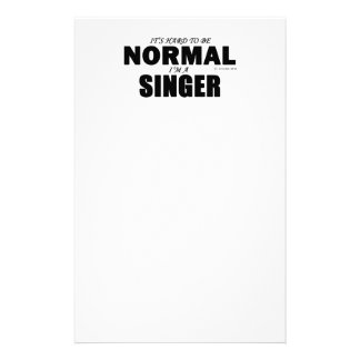 Normal Singer Personalized Stationery