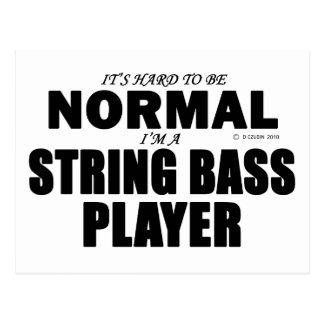 Normal String Bass Player Postcard