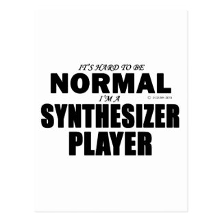 Normal Synthesizer Player Postcard