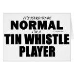 Normal Tin Whistle Player Greeting Card