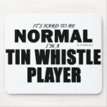 Normal Tin Whistle Player Mouse Pad