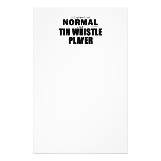 Normal Tin Whistle Player Stationery Design
