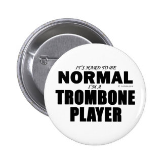Normal Trombone Player Pinback Button