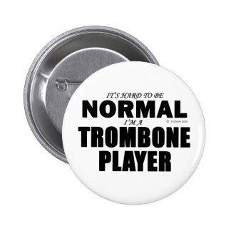 Normal Trombone Player Pinback Button