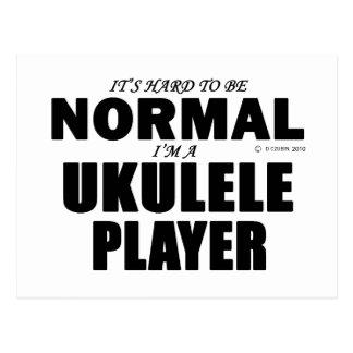Normal  Ukulele Player Postcard